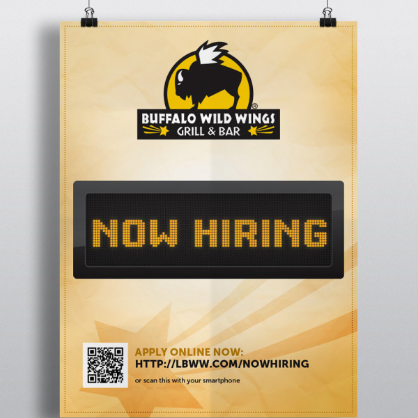 Buffalo Wild Wings Hiring Poster
