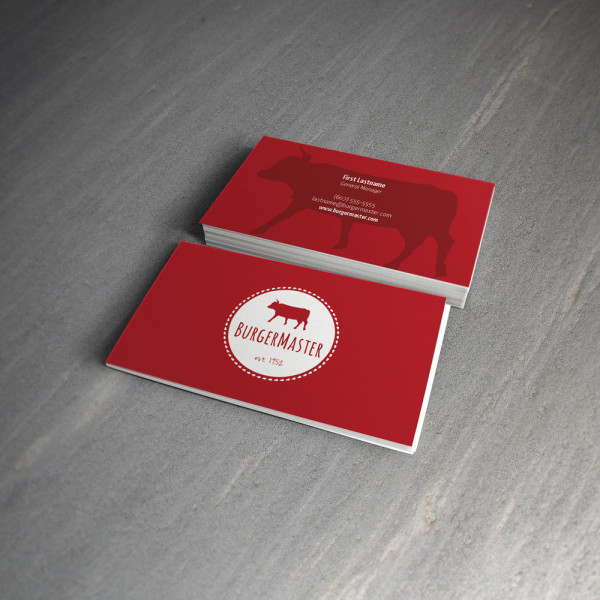 Burger Master Logo & Card