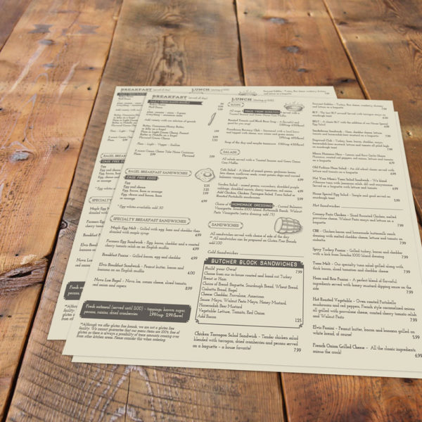 The Owego Kitchen Menu